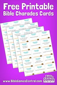 photograph about Printable Bible Games identify Bible Charades