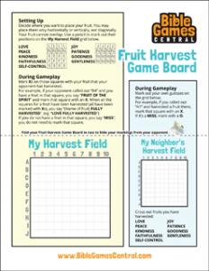 Fruit Harvest Game Board