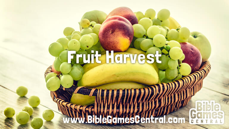 Fruit Harvest Youth Group and Sunday School Game