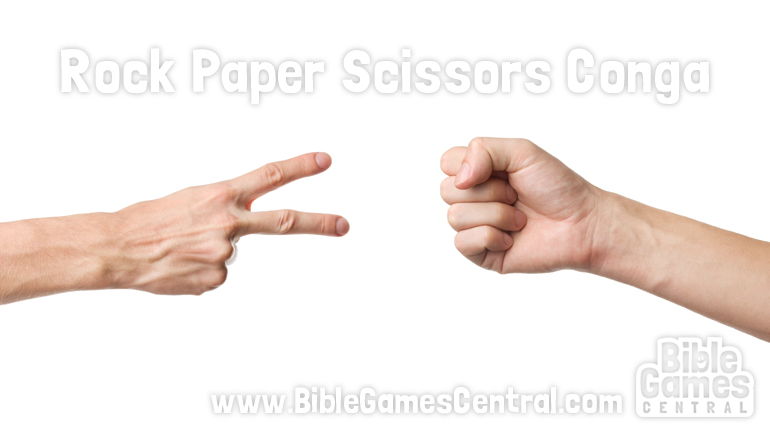 Christian Icebreaker Game for Church - Rock Paper Scissors Conga