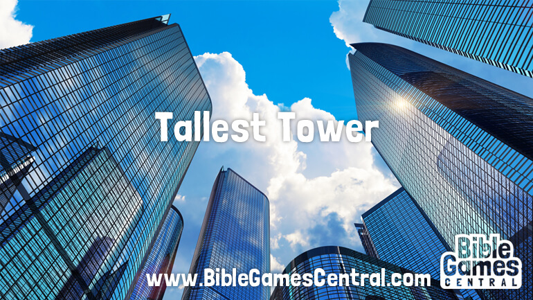 Tallest Tower Bible Game for Adults Youths Kids