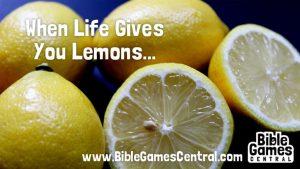 Lemons to Lemonade Bible Activity