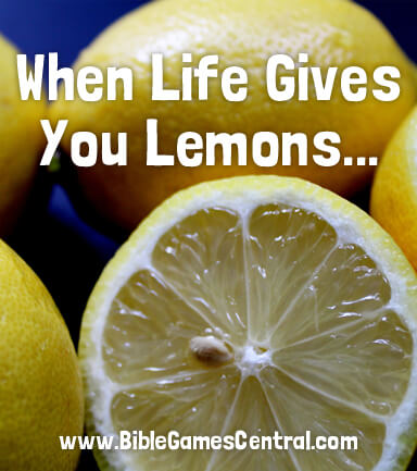 Lemons to Lemonade Bible Activity
