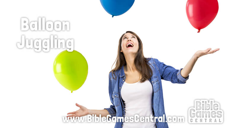 Balloon Juggling Bible Game for Adults and Youths