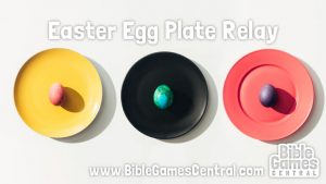 Easter Egg Plate Relay - Easter Game for Kids