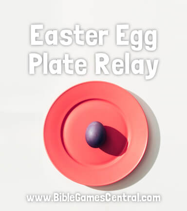 Easter Egg Plate Relay Game for Kids