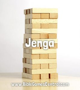 Jenga Bible Game for Adults Youths Kids