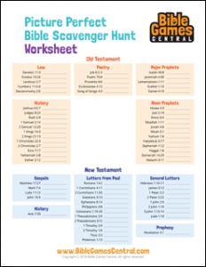 Bible Scavenger Hunt Worksheet
