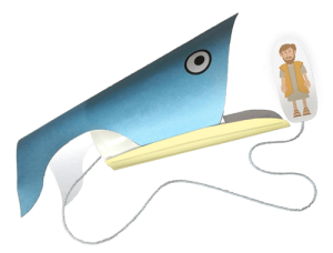 Jonah and the Whale Craft Printable Assembled