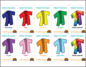 Collect the Coats Cards Bible Game for Kids