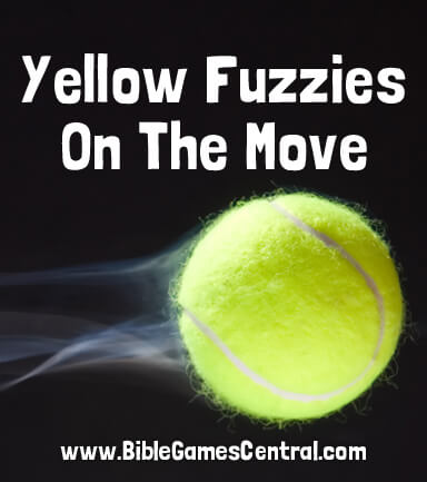 Yellow Fuzzies on the Move Bible Game for Kids
