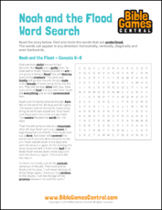 Bible Word Search Noah and the Flood