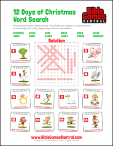 Free Printable Christmas Word Search Puzzles With Answers