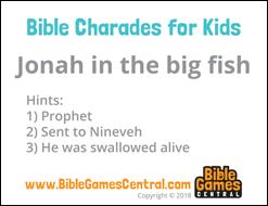Bible Charades for Kids Card