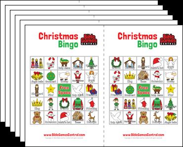 Christian christmas bingo