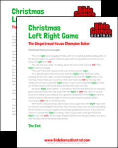 Christmas Left Right Game Printable