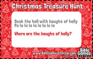 Christmas Treasure Hunt Clue 3