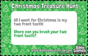 Christmas Treasure Hunt Clue 4