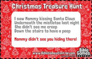 Christmas Treasure Hunt Clue 5