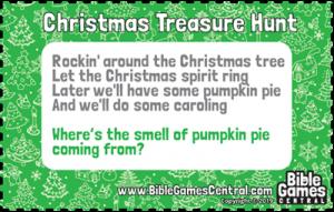 Christmas Treasure Hunt Clue 6
