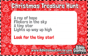 Christmas Treasure Hunt Clue 7