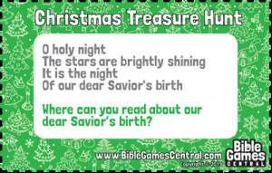 Christmas Treasure Hunt Clue 8