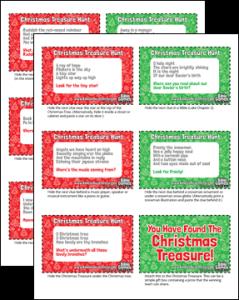 Christmas Treasure Hunt Clues