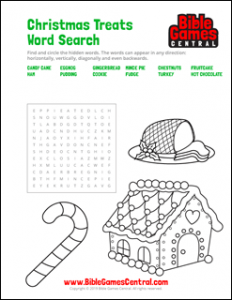 Christmas Treats Word Search