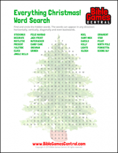 Everything Christmas Word Search