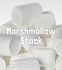 Marshmallow Stack Christmas Game