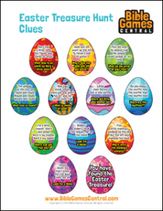 Easter Treasure Hunt Clues