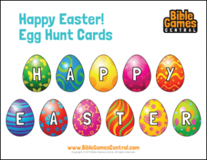 Happy Easter Egg Hunt Cards