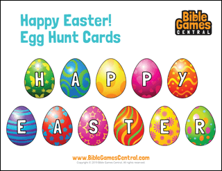 Happy Easter Egg Hunt Cards
