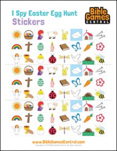 I Spy Easter Egg Hunt Stickers