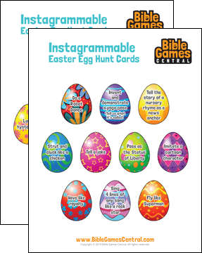 Instagrammable Easter Egg Hunt Cards