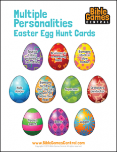 Multiple Personalities Easter Egg Hunt Cards