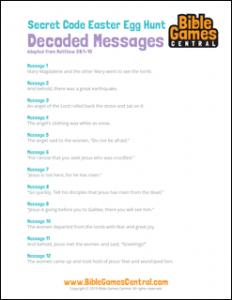 Secret Code Easter Egg Hunt Decoded Messages