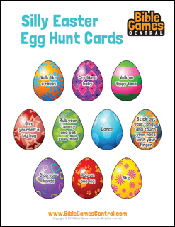 Silly Easter Egg Hunt Cards