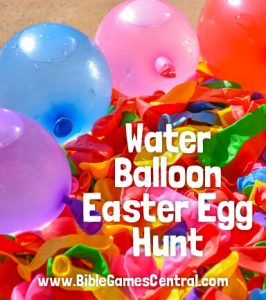Water Balloon Easter Egg Hunt
