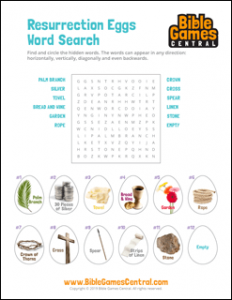 Easter Word Search Resurrection Eggs