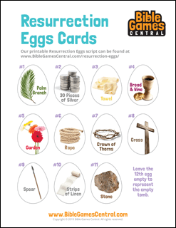 Resurrection Eggs Printable Cards