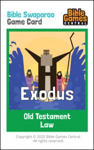 Bible Swaparoo Books of the Bible Game Card