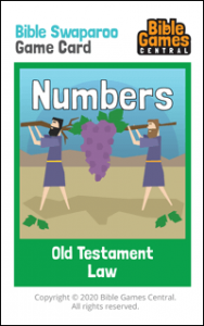 Bible Swaparoo Books of the Bible Game Card