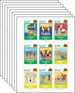 Bible Swaparoo Books of the Bible Game Cards