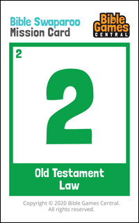 Bible Swaparoo Books of the Bible Game Mission Card