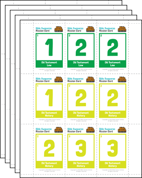 Bible Swaparoo Books of the Bible Game Mission Cards