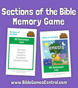 Sections of the Bible Memory Game - Books of the Bible Game