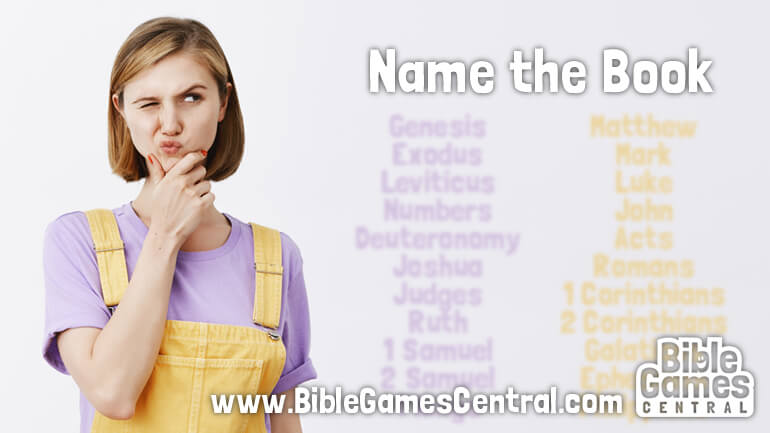 Bible Verse Game Name the Book