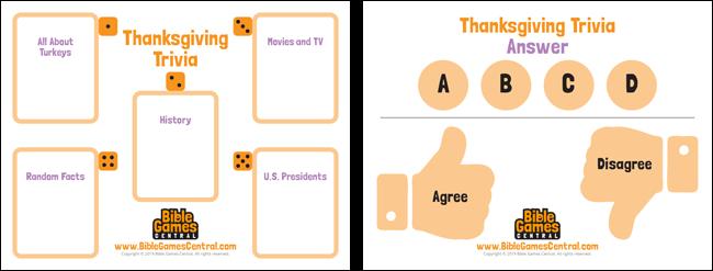Thanksgiving Trivia Board