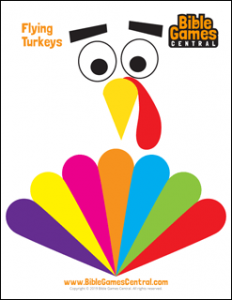 Flying Turkeys Printable